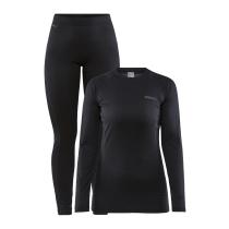 Buy Core Warm Baselayer Set W Black