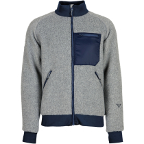 Buy Corpus Fleece Bomber Jacket Light Grey