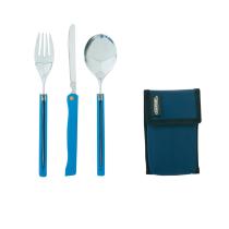 Buy Cutlery Foldable Travel Bleu Et Acier