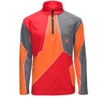 Achat Divide Zip T-Neck Volcano