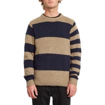 Buy Edmonder Striped Sweater Khaki