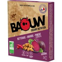 Buy Etui 3 barres bio 25g Baouw Betterave-Amande-Piment d'Espelette