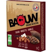 Buy Etui 3 barres bio 25g Baouw Cacao-Noisette-Vanille