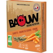 Buy Etui 3 barres bio 25g Baouw Carotte-Graine de courge-Poivre Blanc