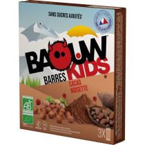 Buy Etui 3 Barres Bio Kids 20g Baouw Cacao-Noisette