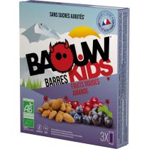 Buy Etui 3 Barres Bio Kids 20g Baouw Fruits Rouges-Amande
