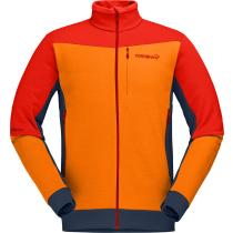 Buy Falketind Warmwool2 Stretch Jacket M Arednalin/Orange Popsicle