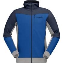 Buy Falketind Warmwool2 Stretch Zip Hood M Olympian Blue/Indigo Night