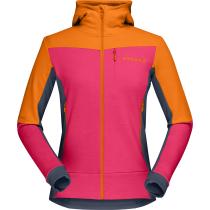 Buy Falketind Warmwool2 Stretch Zip Hood W Orange Popsicle/Honeysuckle