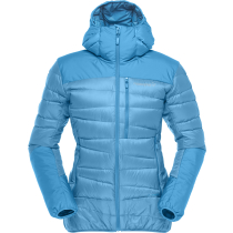 Falketind Down Hood Jacket (W) Blue Moon
