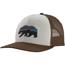 Kauf Fitz Roy Bear Trucker Hat White w/Bristle Brown
