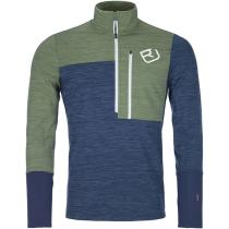 Buy Fleece Light Zip Neck M Night Blue Blend
