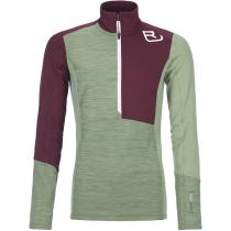 Buy Fleece Light Zip Neck W Green Forest Blend