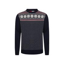 Acquisto Garmisch M Sweater Navy / Off White / Raspberry