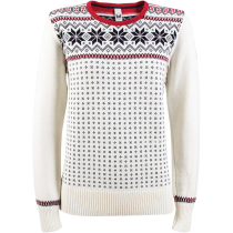 Kauf Garmisch W Sweater Knit Off White/Navy/Rasberry