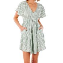 Buy Geo Dress Green