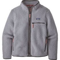 Buy Girls' Retro Pile Jkt Salt Grey