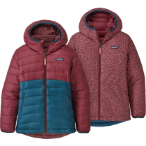 Acquisto Girls' Reversible Down Sweater Hoody Chicory Red