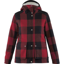 Acquisto Greenland Re-Wool Jacket W Red-Black