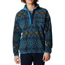 Achat Helvetia Half Snap Fleece M Canyon Blue Blanket Print