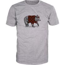 Kauf Hipster Bär T-Shirt Light Grey Melange