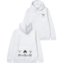 Achat Hooded Smiley Sweat Ash Heather / Black