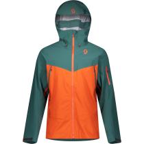 Buy M's Explorair DRX 3L Jasper Green/Orange Pumpkin Jacket