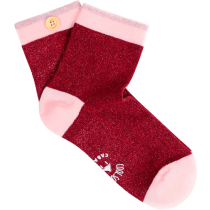 Buy Jennifer & Ben Socks W Burgundy