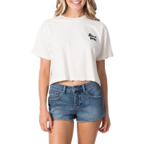 Kauf Keep On Surfin Crop Tee Bone