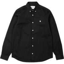 Buy L/S Madison Shirt Black Wax
