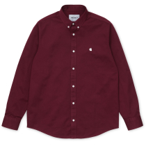 Buy L/S Madison Shirt Regular Bordeaux / Wax