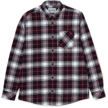Buy L/S Bostwick Shirt Bostwick Check Merlot
