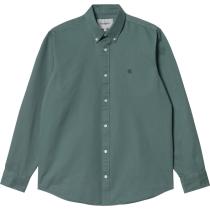 Buy L/S Madison Shirt Eucalyptus Dark Navy
