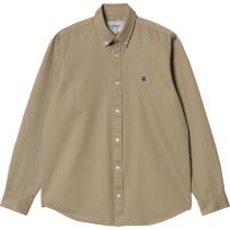 Buy L/S Madison Shirt Leather Dark Navy