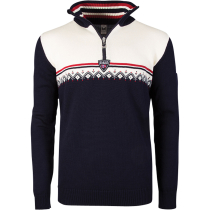 Achat Lahti M Sweater Navy / Raspberry / Off White
