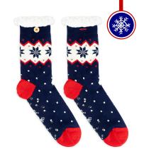 Acquisto Les Flocons Furry Socks W Navy