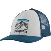 Achat Line Logo Ridge LoPro Trucker Hat White w/Crater Blue