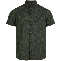 Buy Lm Leave Now S/S Shirt Green Aop