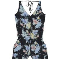Achat Lw Beach Print Playsuit Black Aop W/ Green