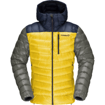 Buy Lyngen Down850 Hood M'S Indigo Night/Lemon Chrome