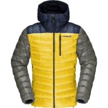Acquisto Lyngen Down850 Hood M'S Indigo Night/Lemon Chrome
