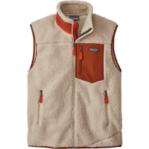 Buy M's Classic Retro-X Vest Natural w/Barn Red