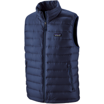 Buy M's Down Sweater Vest Classic Navy w/Classic Navy