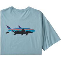 Buy M's Fitz Roy Fish Organic T-Shirt Big Sky Blue w/Fitz Roy Tarpon