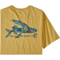 Buy M's Flying Fish Organic T-Shirt Surfboard Yellow w/Squash Blossoms