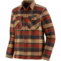 Kauf M's Insulated Fjord Flannel Jkt Plots: Burnished Red