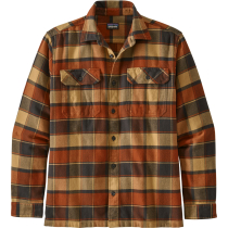 Buy M's L/S Fjord Flannel Shirt Plots: Burnished Red