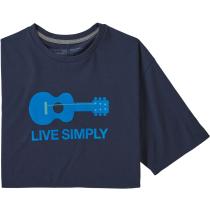 Buy M's Live Simply Guitar Responsibili-Tee Classic Navy