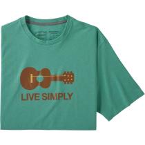 Buy M's Live Simply Guitar Responsibili-Tee Light Beryl Green