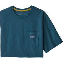 Buy M's P-6 Label Pocket Responsibili-Tee Abalone Blue